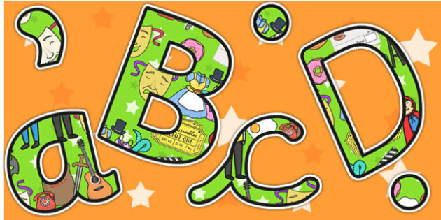 Green Role Play Area Themed Display Lettering - letters, displays