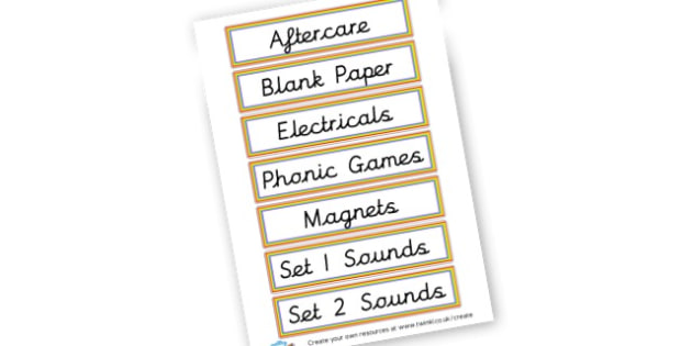 Draw Labels - Classroom Signs & Label Primary Resources, labels, posters, rules