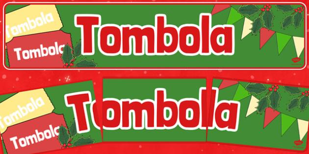 Christmas Themed Tombola Banner - christmas fair, tombola, display banner, display, banner