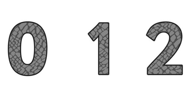 Elephant Pattern Display Numbers (Small) - safari, safari numbers, safari display numbers, elephant display numbers, elephant pattern display numbers