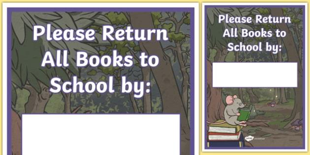 Book Return Template Display Poster