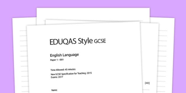 (I) Eng Lang EDUQAS Style Writing Question - time, essence, eduqas, style, question
