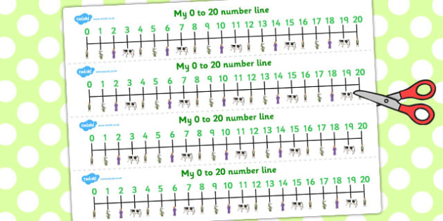 Jack and the Beanstalk Number Lines 0-20 - number line, jack