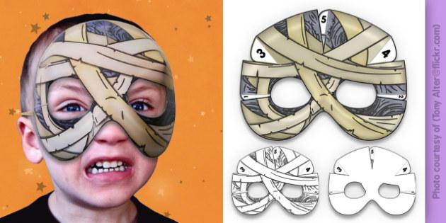 3D Halloween Mummy Monster Mask - 3d, halloween, mummy, monster, mask
