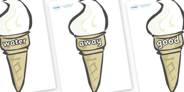 Next 200 Common Words on Ice Creams - Next 200 Common Words on  - DfES Letters and Sounds, Letters and Sounds, Letters and sounds words, Common words, 200 common words