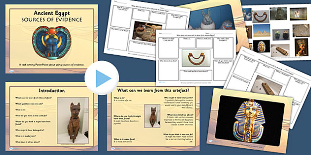 Ancient Egypt Sources of Evidence Lesson Teaching Pack - egyptian