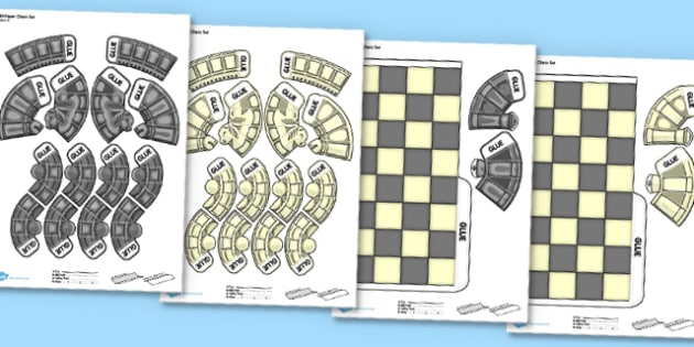 Chess game worksheets