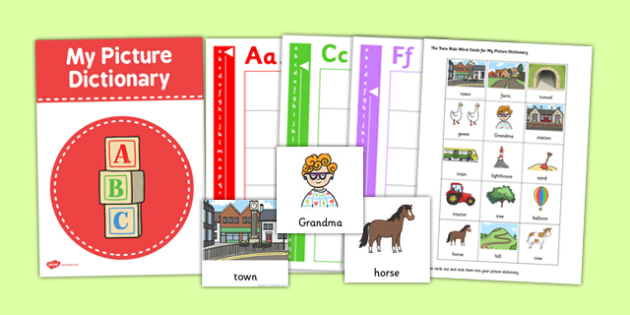 The Train Ride Word Card and Picture Dictionary Set - dictionary
