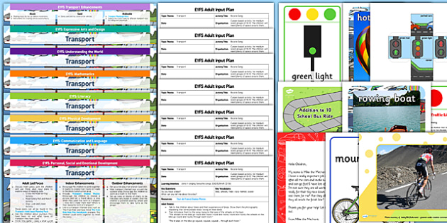 EYFS Transport Lesson Plan, Enhancement Ideas and Resources Pack - transport