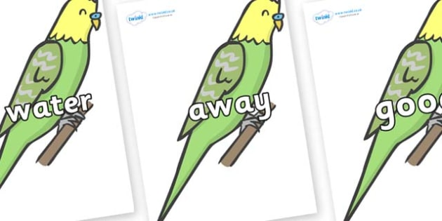 Next 200 Common Words on Budgies - Next 200 Common Words on  - DfES Letters and Sounds, Letters and Sounds, Letters and sounds words, Common words, 200 common words