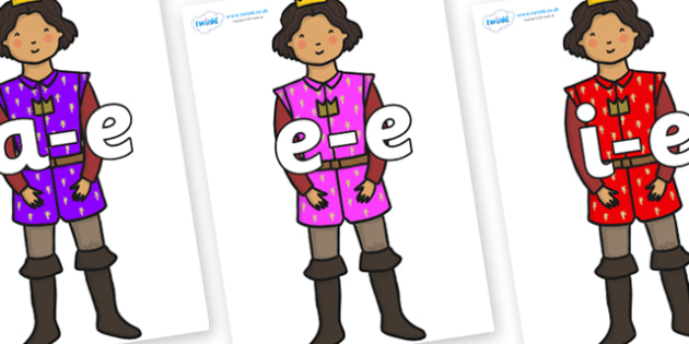 Modifying E Letters on Princes - Modifying E, letters, modify, Phase 5, Phase five, alternative spellings for phonemes, DfES letters and Sounds