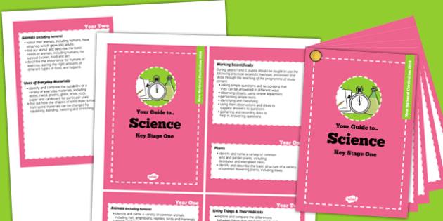 2014 Curriculum Cards KS1 Science - new curriculum, visual aid
