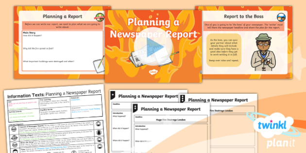 PlanIt Y1 Time Travel: The Great Fire of London Lesson Pack Information Texts (3)