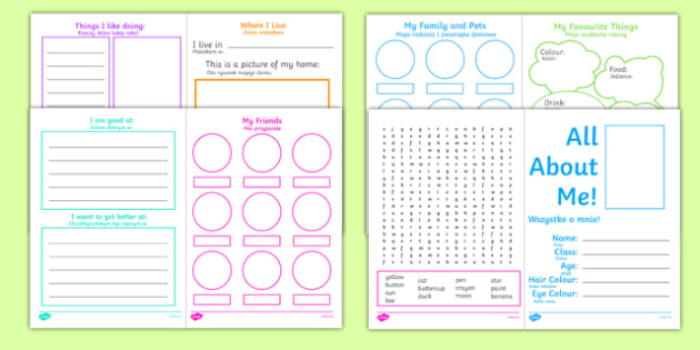 All About Me kS1 Activity Booklet Polish Translation - polish, transition, key stage 1, Year 1, Year 2, end of term, new starter, transistion, all about me