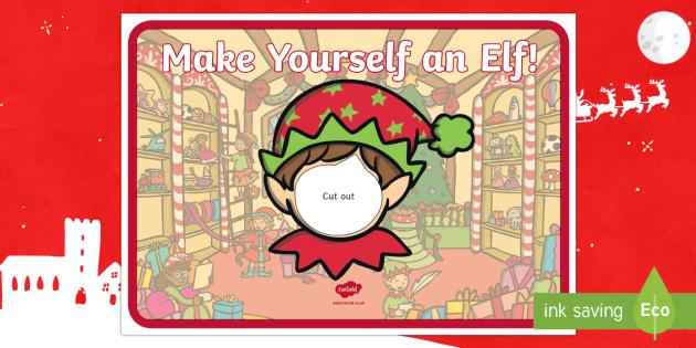 Elf Yourself Face Template - elf, Christmas, santa, helper, elves, face