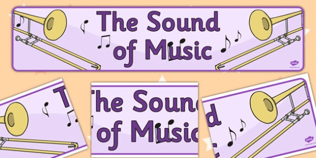 The Sound of Music Display Banner - display, banner, sound, music
