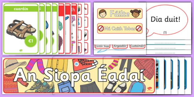 Siopadóireacht Display Pack Gaeilge