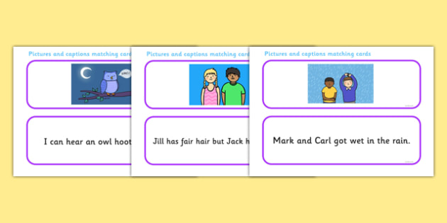 Phase 3 Sentence and Pictures Matching Activity - phase 3, sentence and pictures, matching activity, phase 3 matching activity, matching