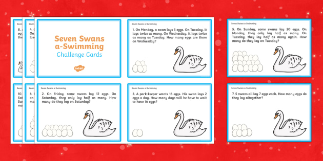 Seven Swans Swimming Challenge Cards