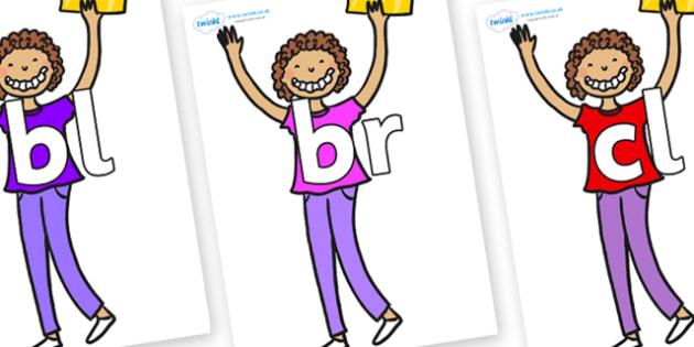 Initial Letter Blends on Violet Beauregarde - Initial Letters, initial letter, letter blend, letter blends, consonant, consonants, digraph, trigraph, literacy, alphabet, letters, foundation stage literacy