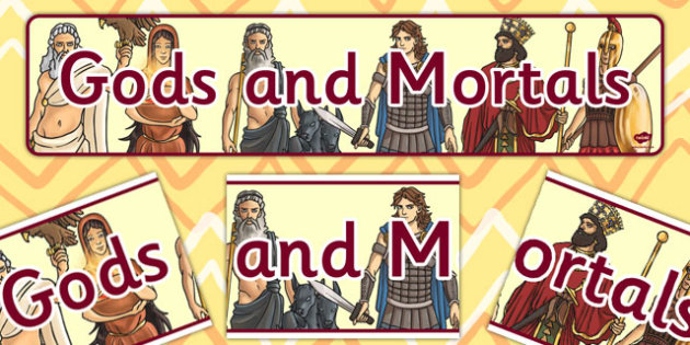Gods and Mortals Display Banner - banners, displays, mortal