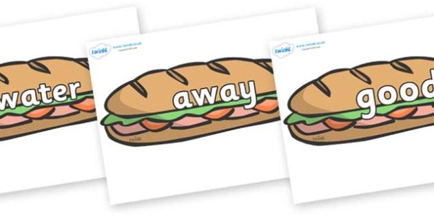 Next 200 Common Words on Sandwiches - Next 200 Common Words on  - DfES Letters and Sounds, Letters and Sounds, Letters and sounds words, Common words, 200 common words