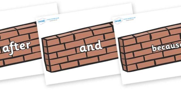 Connectives on Wall - Connectives, VCOP, connective resources, connectives display words, connective displays