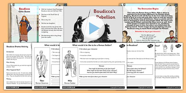 Boudicca Drama Activity Lesson Teaching Pack - boudicca, history