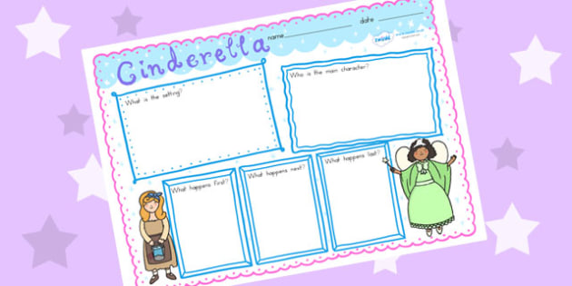 Cinderella Story Review Writing Frame - traditonal tales, review