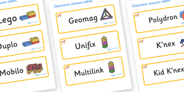 Fox Themed Editable Construction Area Resource Labels - Themed Construction resource labels, Label template, Resource Label, Name Labels, Editable Labels, Drawer Labels, KS1 Labels, Foundation Labels, Foundation Stage Labels