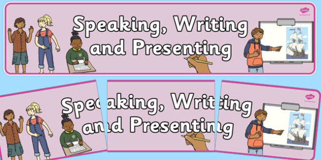 Speaking, Writing and Presenting Display Banner NZ - nz, new zealand, speaking, display