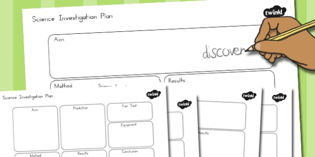 Science Investigation Writing Frame Planners - australia, science