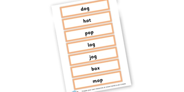 CVC o Word Cards - CVC Words Primary Resources, CVC, consonant, vowel, CVC word