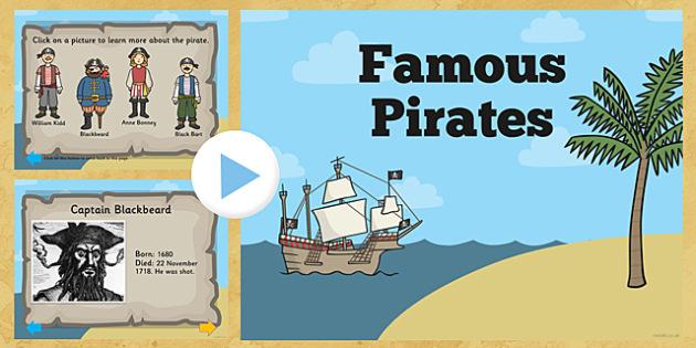 Famous Pirates PowerPoint - pirates, famous pirates, pirates powerpoint, famous pirates presentation, william kidd, blackbeard, anne bonny, information, black beard