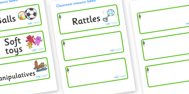 Pine Tree Themed Editable Additional Resource Labels - Themed Label template, Resource Label, Name Labels, Editable Labels, Drawer Labels, KS1 Labels, Foundation Labels, Foundation Stage Labels, Teaching Labels, Resource Labels, Tray Labels, Printabl