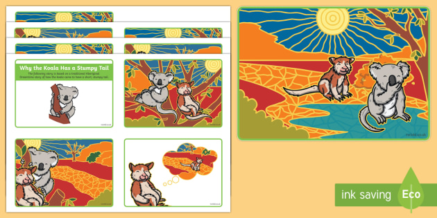 Why the Koala Has a Stumpy Tail Story Sequencing Cards-Australia - Australian Aboriginal Dreamtime Stories, koala, story, dreamtime