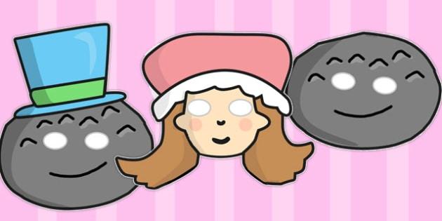 Little Miss Muffet Role Play Masks - Little Miss Muffet, nursery rhyme, rhyme, rhyming, nursery rhyme story, nursery rhymes, Little Miss Muffet resources, role play mask, role play