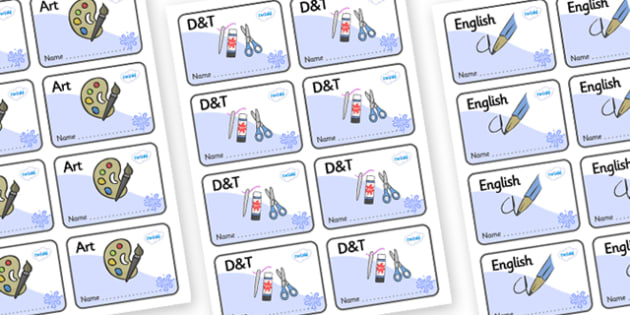Blue Themed Editable Book Labels - Themed Book label, label, subject labels, exercise book, workbook labels, textbook labels