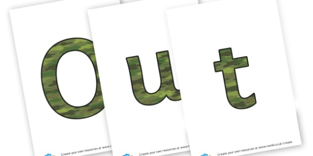 Outdoor Learning Display Lettering - Outdoor Area Primary Resources, outdoors, PE, signs, visual aids