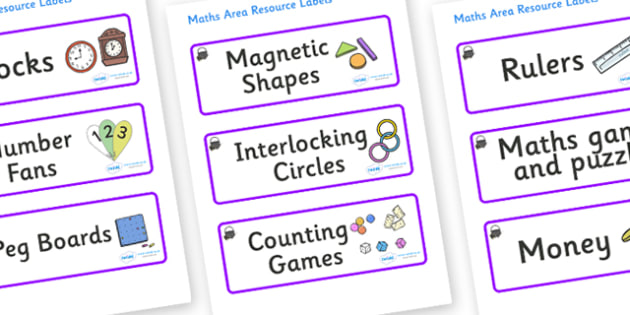 Magical Themed Editable Maths Area Resource Labels - Themed maths resource labels, maths area resources, Label template, Resource Label, Name Labels, Editable Labels, Drawer Labels, KS1 Labels, Foundation Labels, Foundation Stage Labels, Teaching Lab