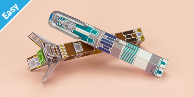 Enkl Sci-Fi Screwdriver Printable - Enkl, arts, crafts, activity, adult, home, decor, designer, designer, decoration, interior, project, printable, cute, simple, paper, models, 3D, shape, colour, geek, clean, dr who, dr,who,space,sonic,screwdriver,da
