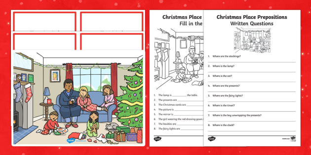Christmas Place Prepositions Pack