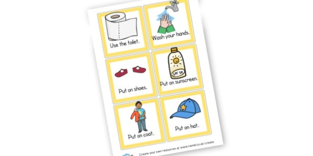 Leaving the House Cards - Visual Timetables Primary Resources, visual, timetables, routine