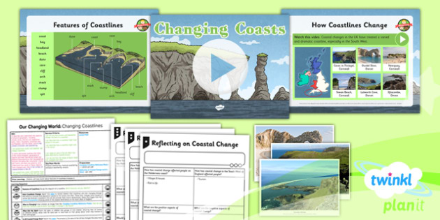 PlanIt - Geography Year 6 - Our Changing World Lesson 3: Changing Coastlines Lesson Pack - geography, coast, physical, human, changes