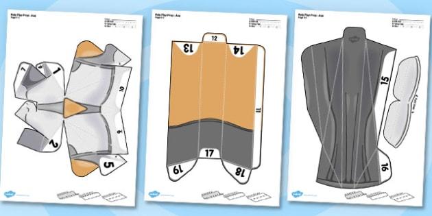 Role Play Printable Prop Axe - role-play, printable, prop, axe