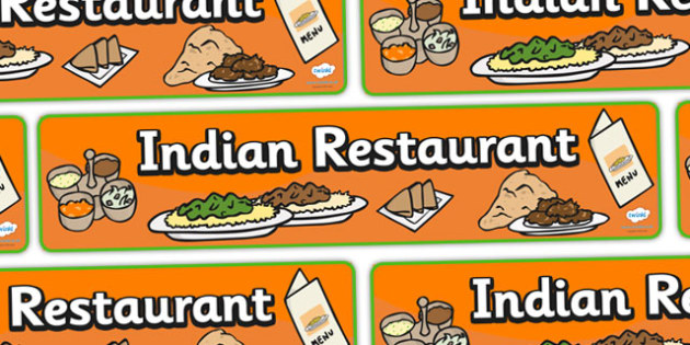 Indian Restaurant Role Play Display Banner - Indian restaurant, role play, curry, food, takeaway, banner, display, A4 display, Indian culture, India, menu, poppdom