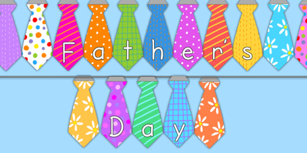 Tie Shaped Fathers Day Display Bunting - father, display, flags