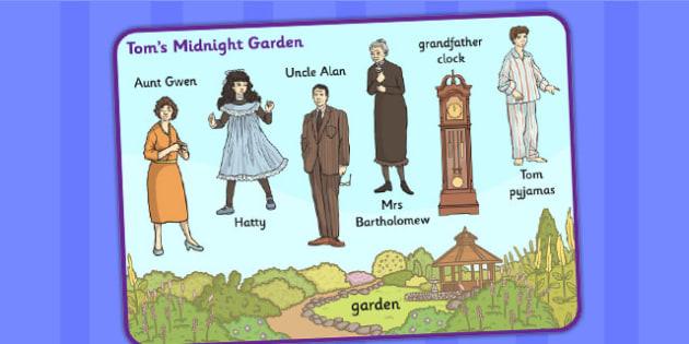 Tom's Midnight Garden Word Mat - word mat, garden, tom, midnight