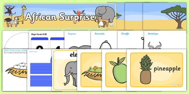 Childminder African Surprise Resource Pack - packs, sacks, sack