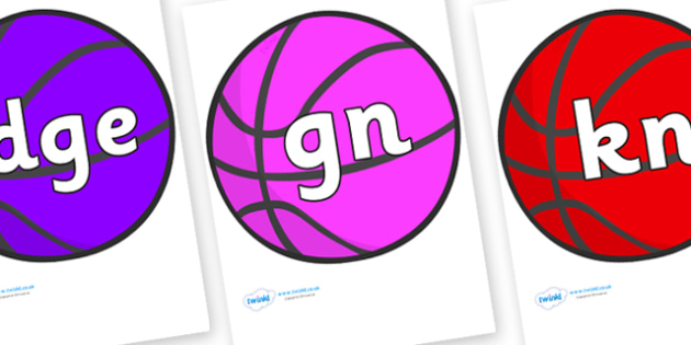 Silent Letters on Basketball - Silent Letters, silent letter, letter blend, consonant, consonants, digraph, trigraph, A-Z letters, literacy, alphabet, letters, alternative sounds